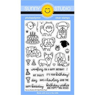 Party Pups Stamps- Sunny Studio Stamps