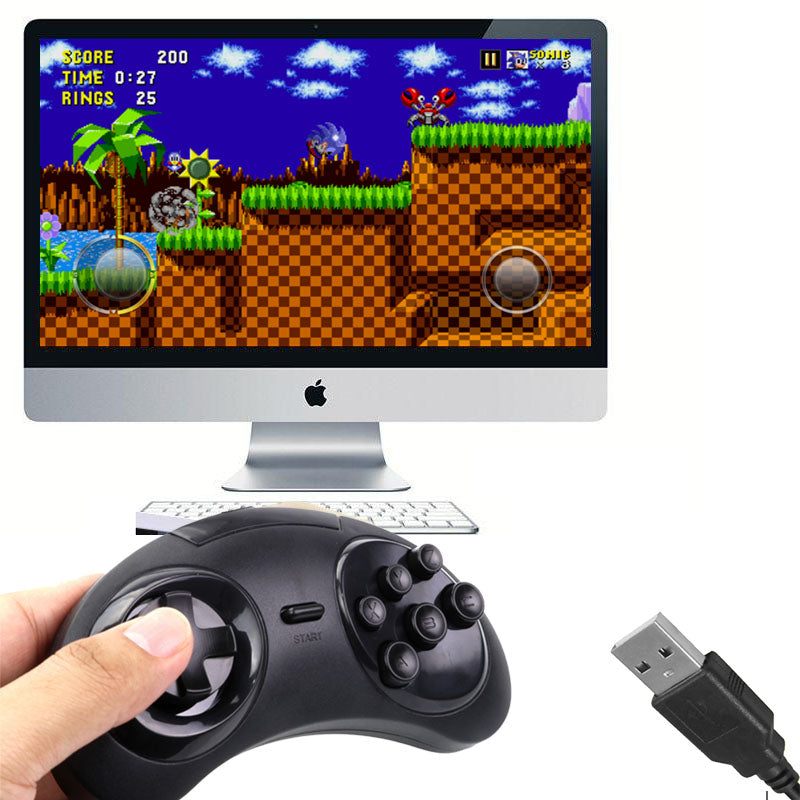Mega Drive Gamepad with USB for PC and MAC