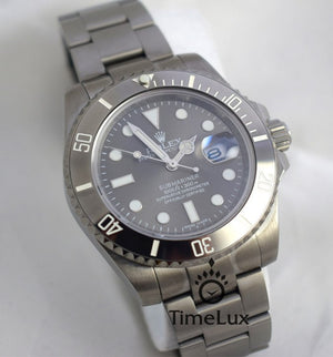 Replica Rolex Submariner Blaken Silver Bezel - TimeLux - Replica Watches Greece