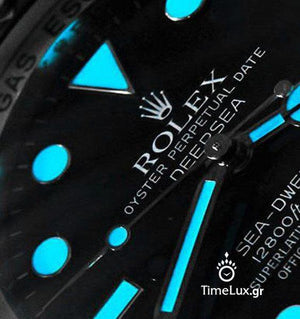 Replica Rolex Sea-Dweller Deepsea Ceramic Bezel Rubber Strap - TimeLux - Replica Watches Greece
