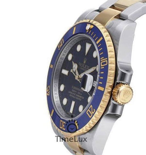Replica Rolex Submariner 2-Tone Blue Ceramic Bezel - TimeLux - Replica Watches Greece