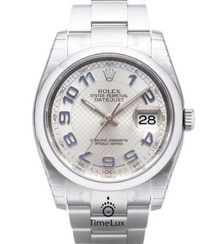 Replica Rolex DateJust 41mm Silver Dial L/B Arabic Markers - TimeLux - Replica Watches Greece