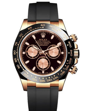 Replica Rolex Daytona Cosmograph Gold Black Dial Black Ceramic Bezel Baselworld 2017 - TimeLux - Replica Watches Greece