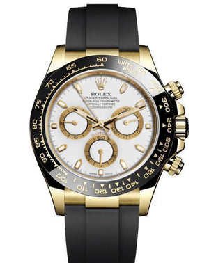 Replica Rolex Daytona Cosmograph White Dial Black Ceramic Bezel Sticks Markers Baselworld 2017 - TimeLux - Replica Watches Greece