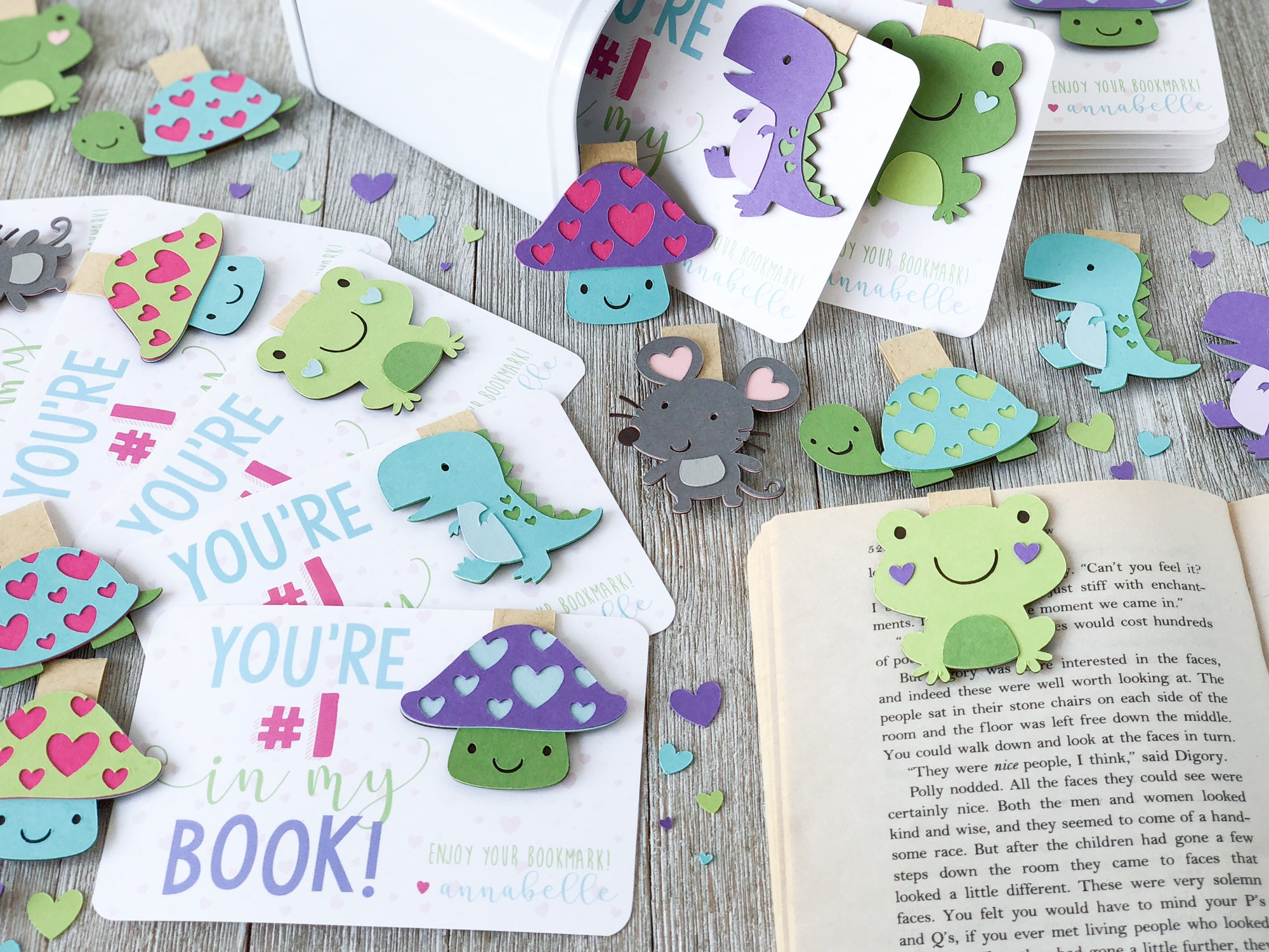 DIY Magnetic Valentine Bookmarks