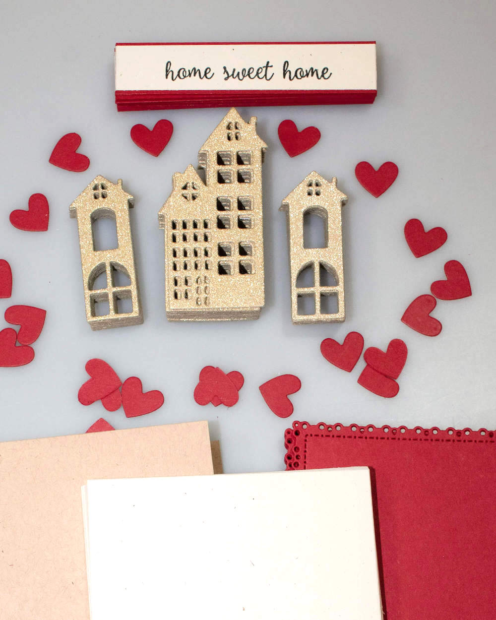 Home Sweet Home Cardstock Paper Housewarming Invitations Paper Pieces