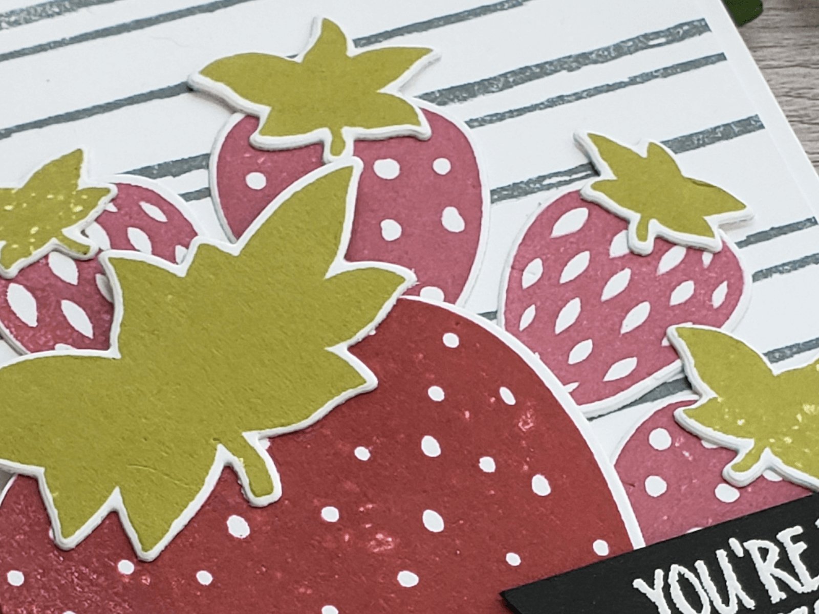 Sweetest Pick Paper Strawberry Cardstock Card