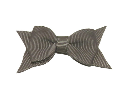 Small Snap Cadeau Bow - Single - Metal Grey - Baby Wisp