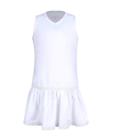 Hampton Court Dress White - MD, LG only - Little Miss Tennis