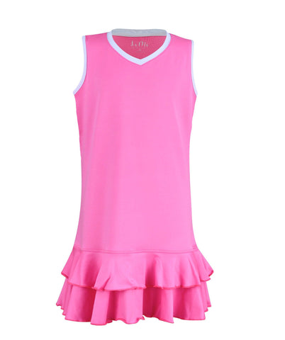 #Midnight in Malibu Dress Pink - Little Miss Tennis