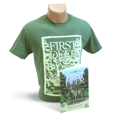 Green First Deer T-shirt and Book Package