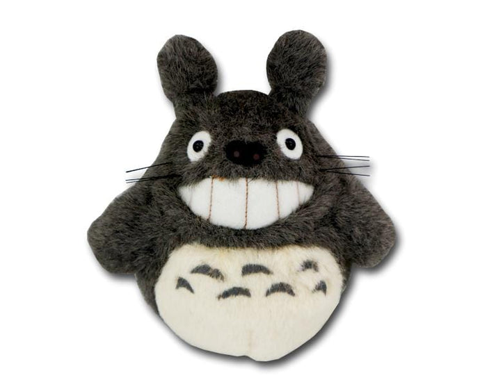 Smiling Totoro S-size Plush (dark gray)