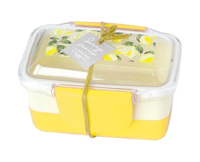 Sunny Fruits 2-Layer Yellow 560ml Bento