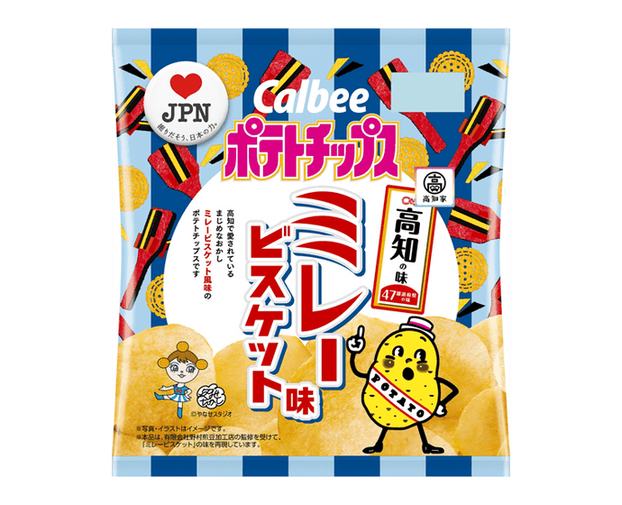 Calbee Potato Chips: Kochi Mira Biscuit