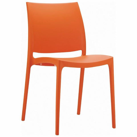 Compamia Maya Dining Chair Orange ISP025-ORA - RestaurantFurniturePlus + Chairs, Tables and Outdoor - 1