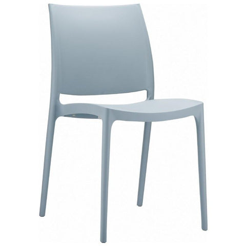 Compamia Maya Dining Chair Silver ISP025-SIL - RestaurantFurniturePlus + Chairs, Tables and Outdoor