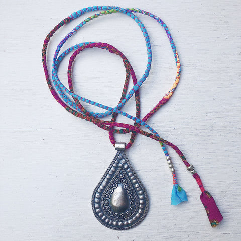 TEARDROP GYSPY SILK NECKLACE