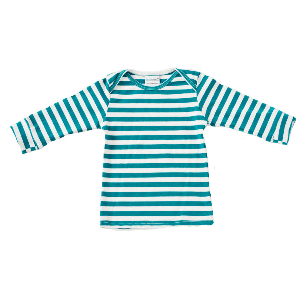 Everyday Basic Tee Spruce and white Striped
