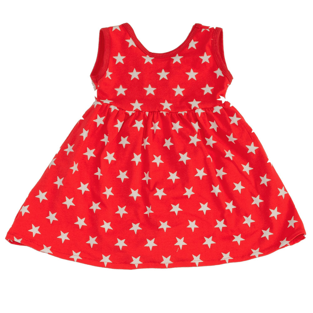 Tank Swing Dress Red Stars