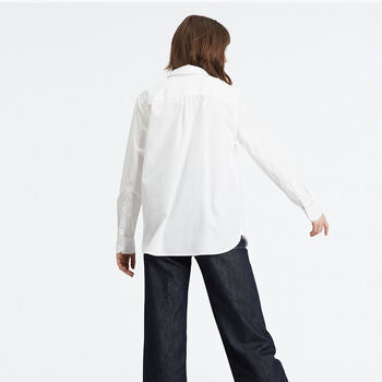 levis ultimate boyfriend shirt bright white