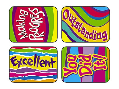 Outstanding Words Applause Stickers - 100 Stickers per pack