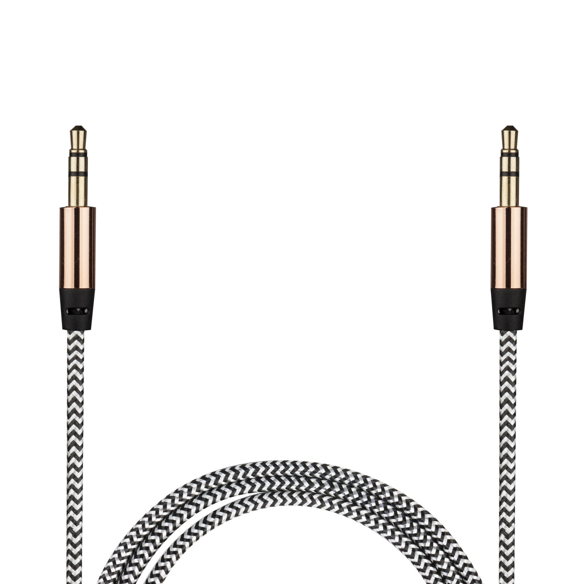3Ft Braided  Metallic Aux Cable