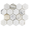 "Calacatta Gold 3"" Hex Polished - Elon Tile"