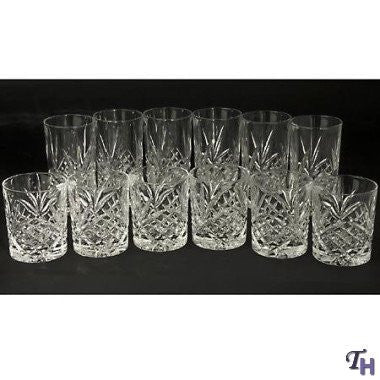 Dublin Collection Crystal Beverage Glasses (Set of 12)
