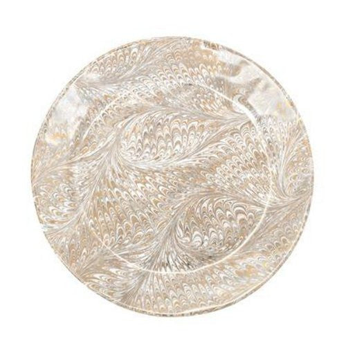 Juliska Firenze Marbleized Firenze Gold & Platinum Charger - Server Plate