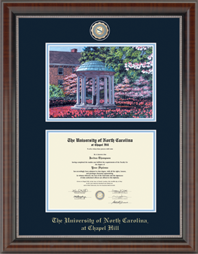 University of North Carolina Luxury Old Well Diploma Frame
