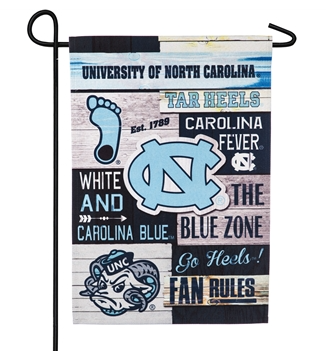 North Carolina Tar Heels Team Sports America Linen Fan Rules Garden Flag