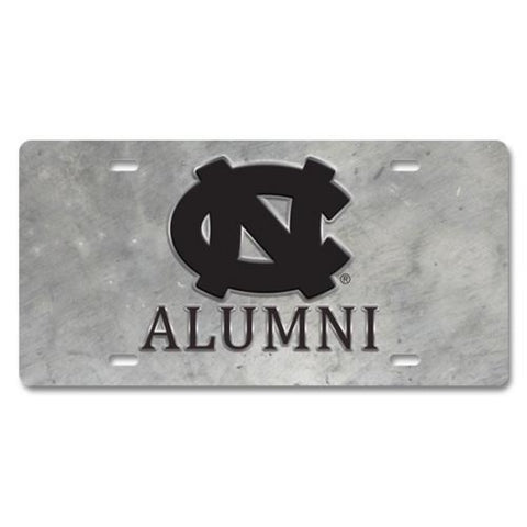 North Carolina Tar Heels JayMac Pewter Style UNC Alumni Front License Plate