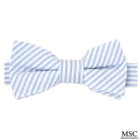 North Carolina Tar Heels Mainstreat Collection Carolina Blue Seersucker Bow Tie