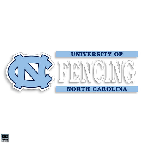 University of North Carolina Fencing Decal