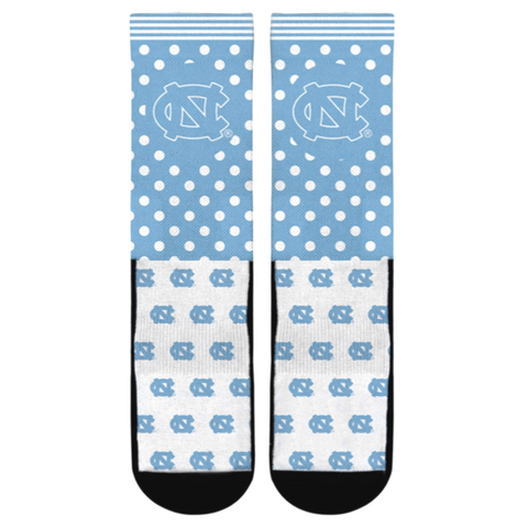 North Carolina Tar Heels Rock 'Em Polka Logo Crew Socks