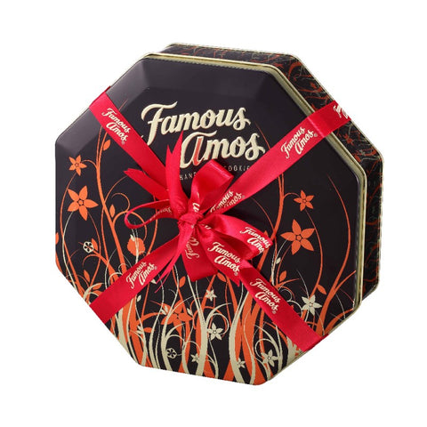 Famous Amos Floral Octagon Tin  (6 Flavours) 450g