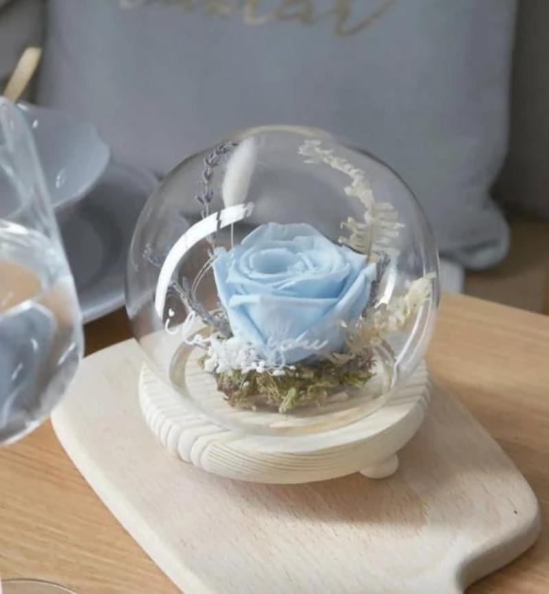Sanctuary Preserved Blue Rose Globe