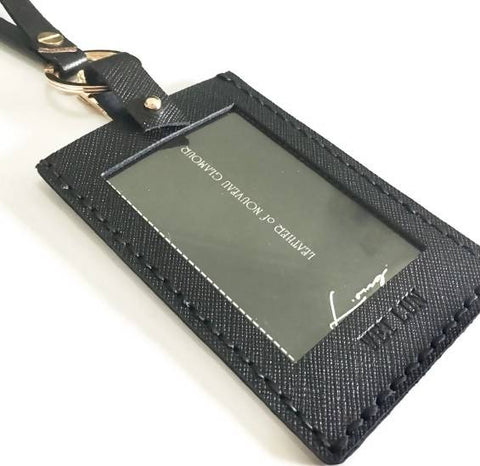 Leather ID Card Holder + Lanyard