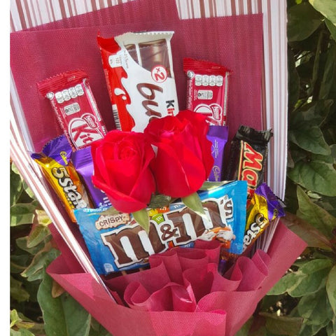 Mix Chocolate with Roses Bouquet