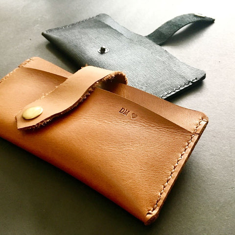 Personalised Multipurpose Leather Handphone Pouch