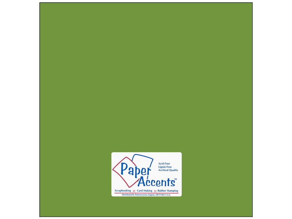 Paper Accents - Green Parrot Smooth 12x12 Stash Builder Cardstock 25 sheets #10105