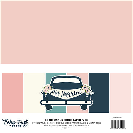 Echo Park - Just Married 12x12 Coordinating Solids Paper Pack