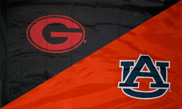 Georgia & Auburn House Divided Flag
