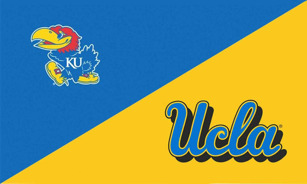 Kansas & UCLA House Divided Flag