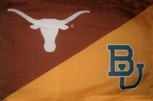 Texas & Baylor House Divided Flag