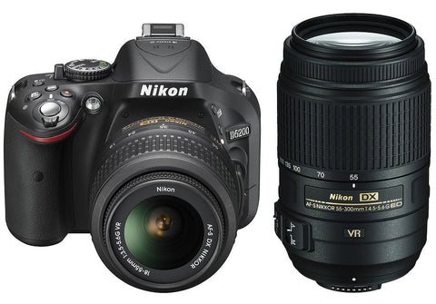 Nikon D500 18-55mm & 55-300mm Double VR Lens Kit