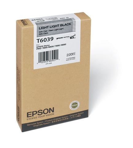 Epson | T6039 Light Light Black Ink Cartridge (220 ml)