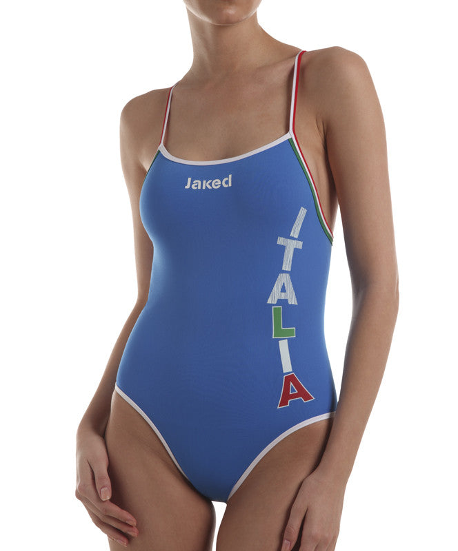 Women's Italia Team One-Piece Tris Swimsuit, Jaked US Store