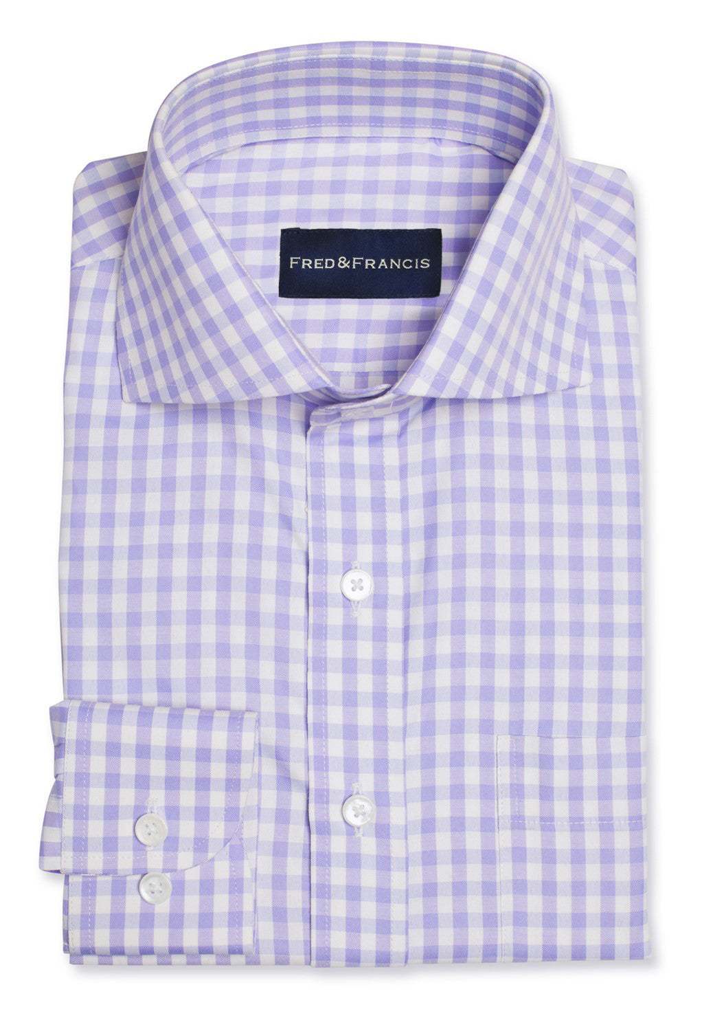 Light Purple Non-Iron Gingham