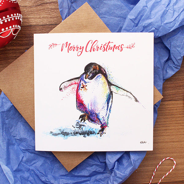 Paul the Penguin Christmas Card by CMarshallArts
